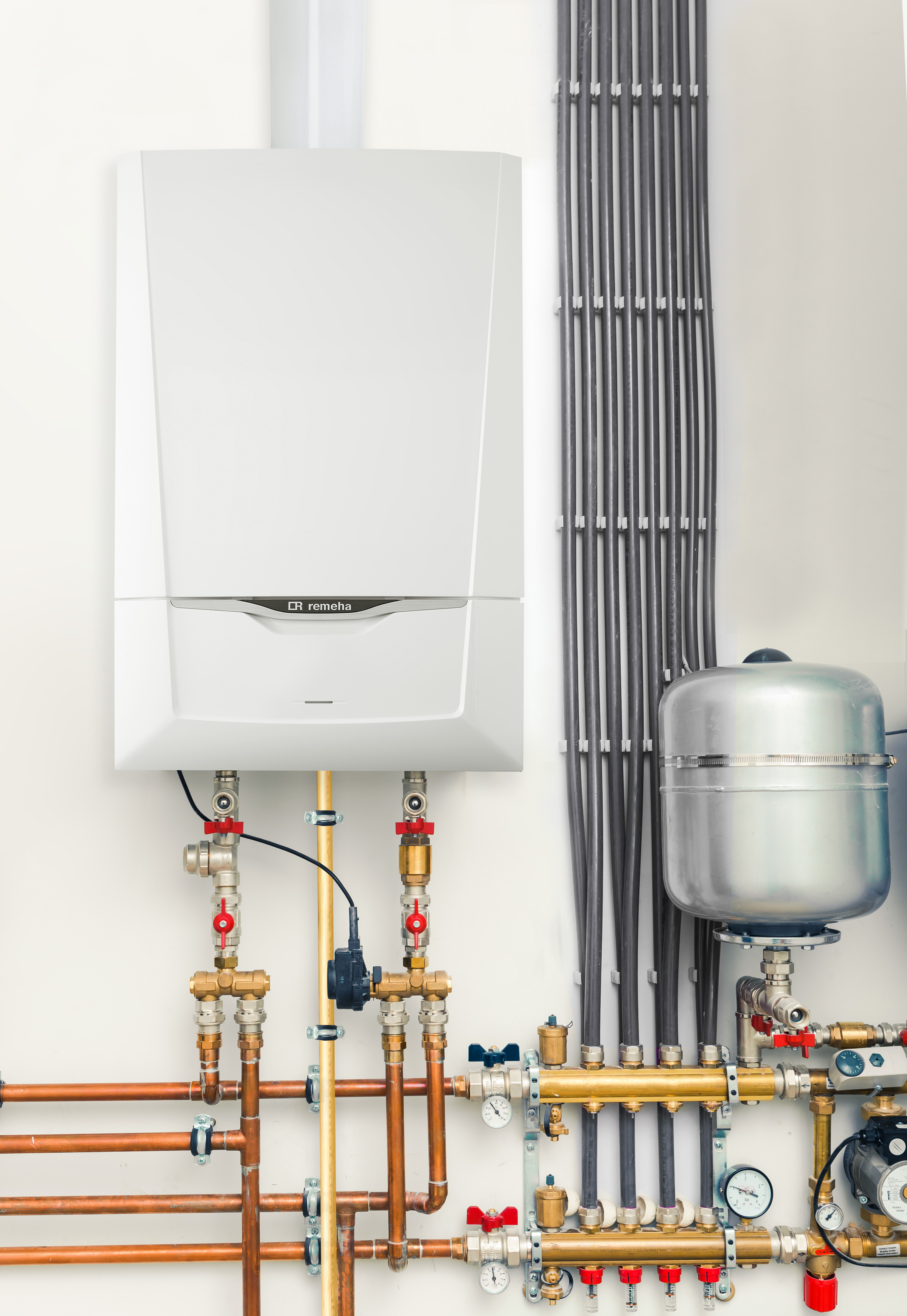 independent heating system with boiler